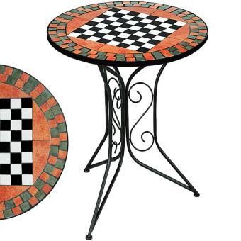 Table Guéridon Mosaique Avec Plateau échec Table De Jardin Petite