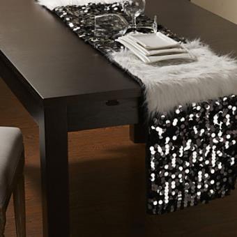 Chemin De Table Moderne à Motif Fourrures Et Paillettes En Polyester    Achat U0026 Prix | Fnac