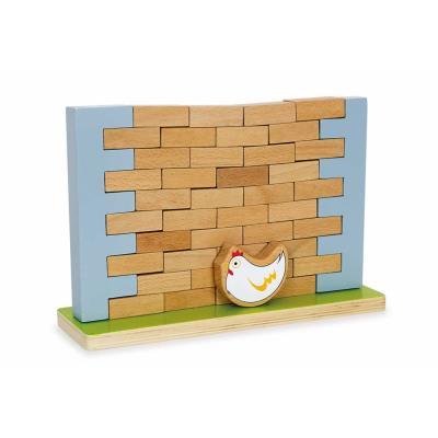 Jeu de construction en bois du mur Gustave