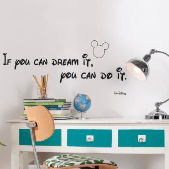 stickers citation walt disney 39 you can do it 39 achat prix fnac. Black Bedroom Furniture Sets. Home Design Ideas