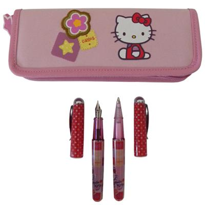 Parure de Stylos Hello Kitty rose