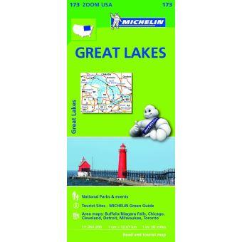 Mapa Michelin Zoom 173 - USA Great Lakes