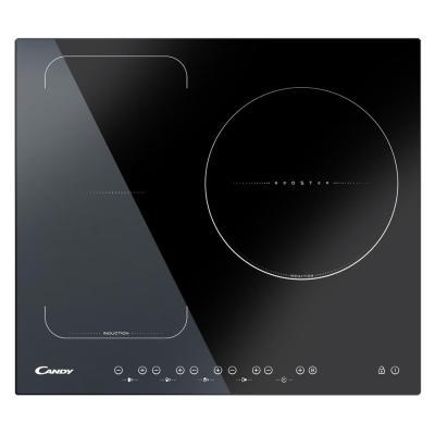 Candy CFI36 - Table de cuisson à induction - 3 plaques de cuisson - Niche - largeur : 56 cm - profondeur : 49 cm - noir