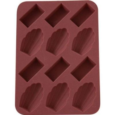 patisse 19385 lot de 2 plaques 6 mise en bouche mini madeleinesmini financiers platine chocolat 17 x 12 cm