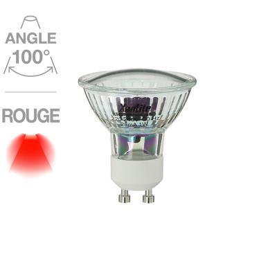 Spot 18 LED rouge GU10