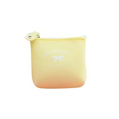 Porte monnaie silicone gel bonbon ( Jaune Pastel )