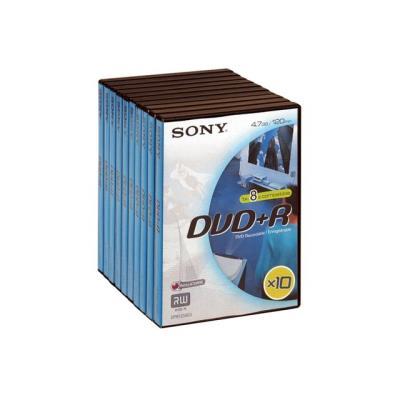 Sony 10DPR120VD DVD+R Vidéo Box x 10
