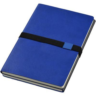JournalBooks - Carnet Doppio (Taille unique) (Bleu marine/Gris) - UTPF596