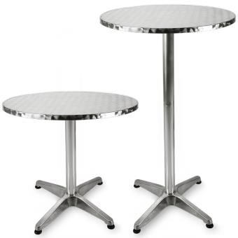 Table de bar - Table haute - Bistrot Aluminium - Table ronde acier ...