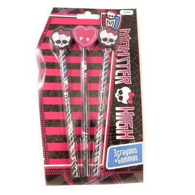 Set scolaire 'Monster High' noir rose