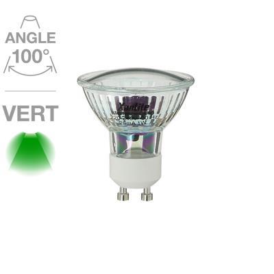 Spot 18 LED verte GU10