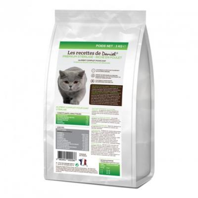 Les recettes de daniel - chat adulte premium stérilisé - 3 kg