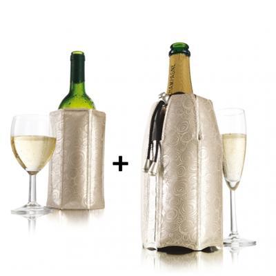 Rafraîchisseur à bouteille Rapid Ice Coolers, décor doré, 2 pièces