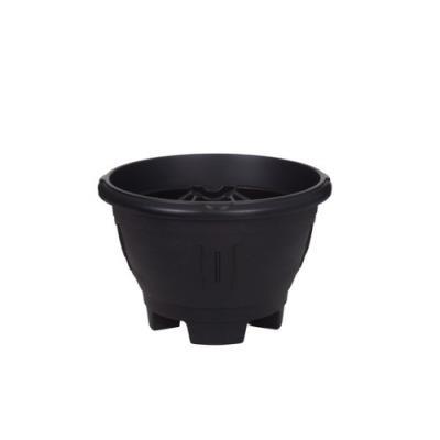 Whitefurze G02032 Venetian Pot De Fleurs Rond Avec Pieds Noir 43 Cm