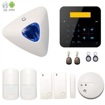 alarme a9 sans fil gsm avec sir ne d port e et d tecteur. Black Bedroom Furniture Sets. Home Design Ideas