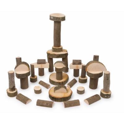Jeu de construction en bois artisanal Franck