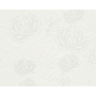 Papier peint EXP SANTA CLARA BLANC ARGENT Lot de 12