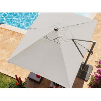 parasol d port rectangulaire fresno 4 x 3 m taupe. Black Bedroom Furniture Sets. Home Design Ideas