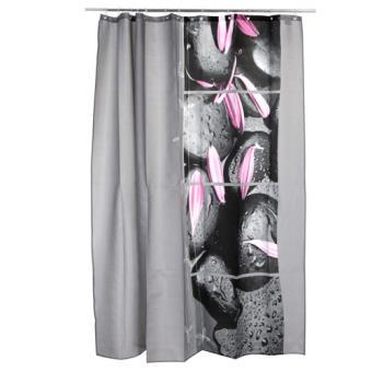 Rideau de douche Zen Galet - 1,8 x 2 m. - Polyester - Achat & prix ...