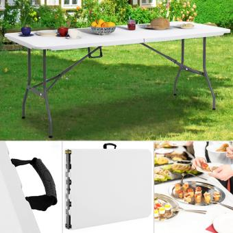 Table pliante camping portable réception buffet traiteur jardin 182 ...