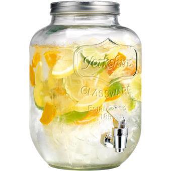 fontaine distributeur boisson en verre 4 litres avec robinet achat prix fnac. Black Bedroom Furniture Sets. Home Design Ideas