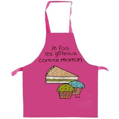 Tablier De Cuisine Enfant 3 6 Ans Fuchsia Les Gateaux Comme Maman
