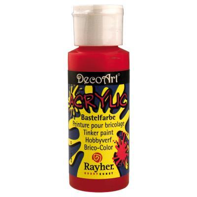 Peinture acrylique - Rouge feu - 59 ml