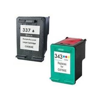 prestige cartridge hp 337 hp 343 lot de 2 cartouches d 39 encre compatible avec imprimante. Black Bedroom Furniture Sets. Home Design Ideas