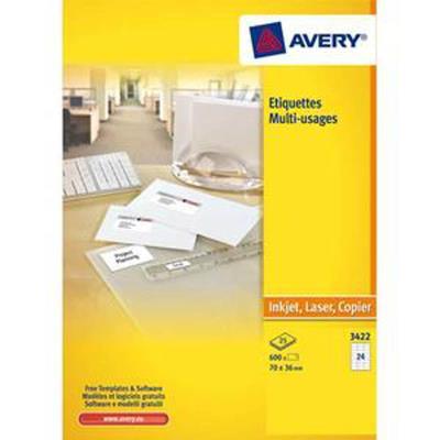 Boîte de 2400 étiquettes blanches multi usages, 70 x 35 mm