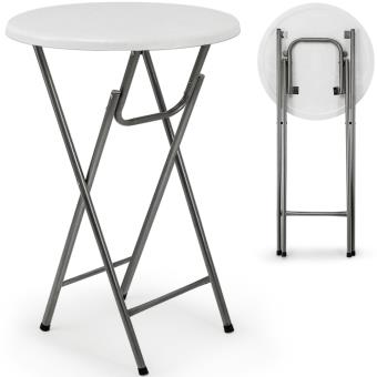 Table haute pliable - Table de bar pliante en MDF blanc ...