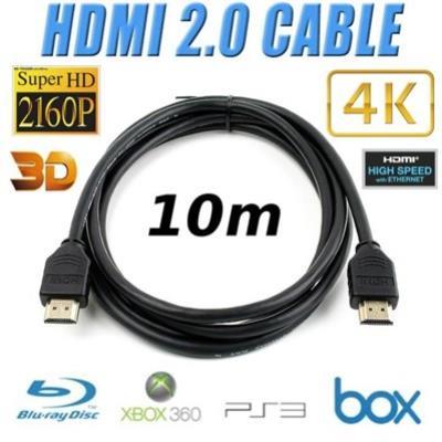 Câble HDMI 2.0 Longueur 10m 3D 4K UltraHD 2160p