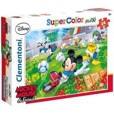 Puzzle 24 pièces maxi : mickey sport clementoni