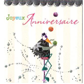 Carte Joyeux Anniversaire Carte De Correspondance Top Prix Fnac