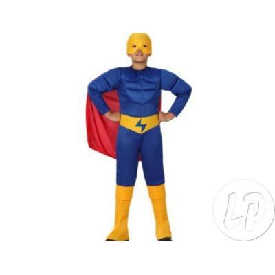 déguisement enfant super héros bleu taille 3-4 ans