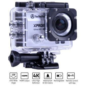 TECTECTEC XPRO2 ARGENT: Caméra Sport Ultra HD 4K Wifi avec Photo 16 Mp