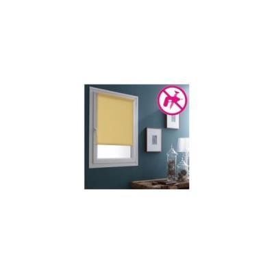 Store Enrouleur Occultant Sans percer - 87 x 170cm-Abricot
