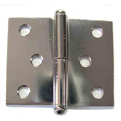 PVM - Paumelle de meuble acier nickelé 50 x 40 mm - droite - Lot de 2