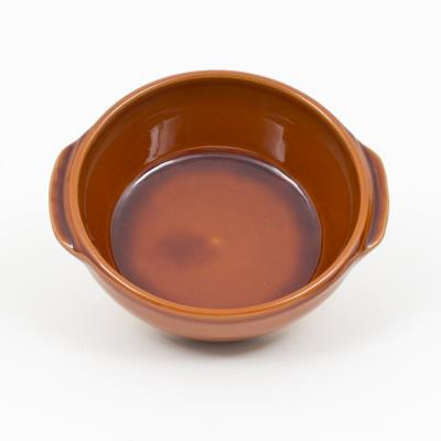 Digoin ceramiques plat creux n16 brun 0l5 digoin
