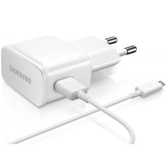 Samsung GALAXY S6 Edge Chargeur secteur 2A + cable BLANC Micro USB d'Origine ETA-U90EWE
