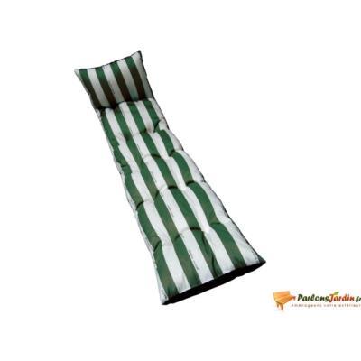 Coussin flocons pour bain de soleil Cancale vert