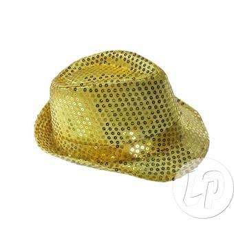 produits chauds rencontrer spécial chaussure chapeau borsalino à paillettes or - Accessoire de ...