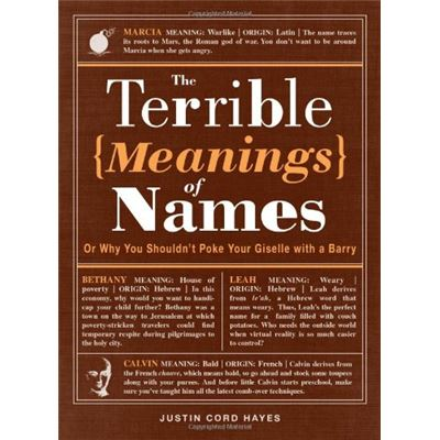The Terrible Meanings of Names: Or Why You Shouldn't Poke Your Giselle With A Barry - [Livre en VO]