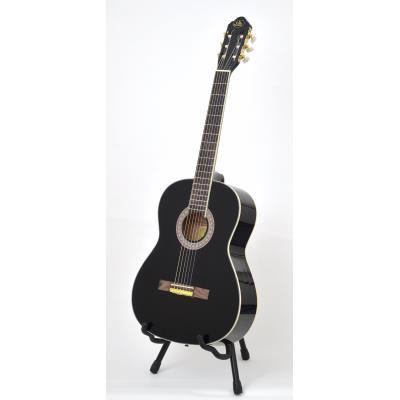 ts-ideen 4558 guitare de concert 4-4 classique acoustique avec manche en bois de rose-etui rembourre-sangle-corde