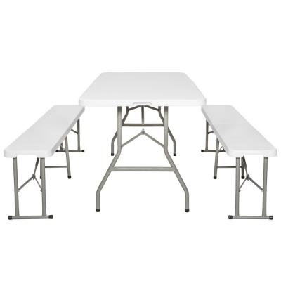 2 Tectake Ensemble Mobilier Table Pliables Bancs Et De Jardin v8m0wONn