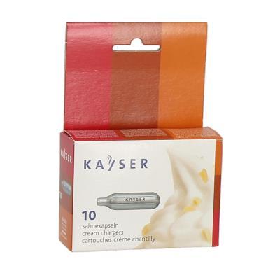 kayser pack de 10 cartouches azote pour siphon à crème 1111