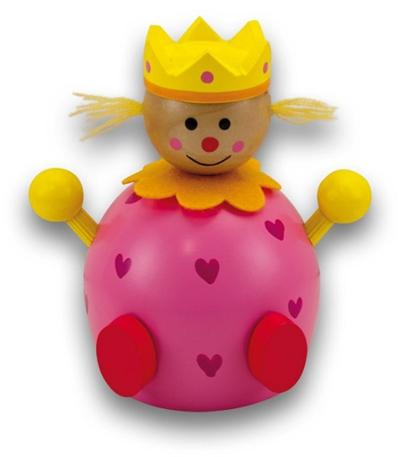 Jolie Tirelire en bois de 13 cm de haut en forme de princesse