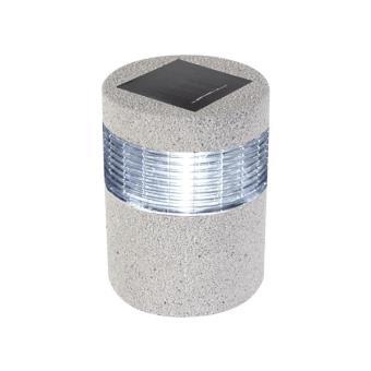 Lampe solaire pour jardin - imitation pierre - ø 11.5 x 15.5 ...