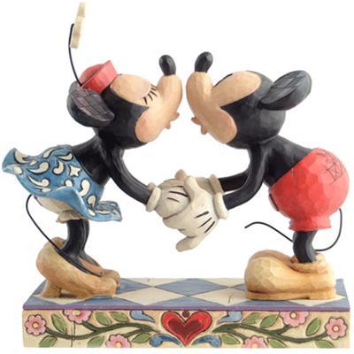 Figurine Mickey et Minnie Bisous à mon Amour