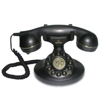 vintage 10 t l phone fixe noir t l phone filaire achat prix fnac. Black Bedroom Furniture Sets. Home Design Ideas