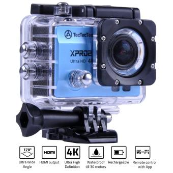 TECTECTEC XPRO2 BLEU: Caméra Sport Ultra HD 4K Wifi avec Photo 16 Mp